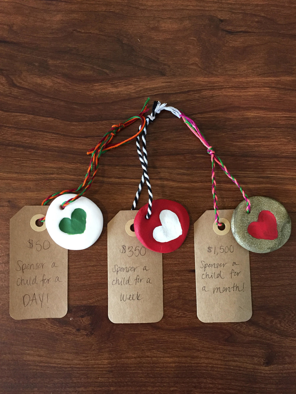 "Acts of Love ""Sponsor a Child"" Ornaments!"