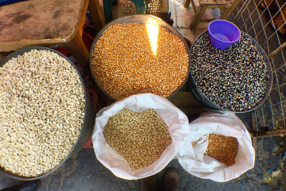 Maíces en el mercado