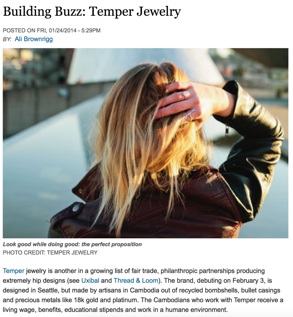 Seattle Mag - Building Buzz: Temper Jewelry