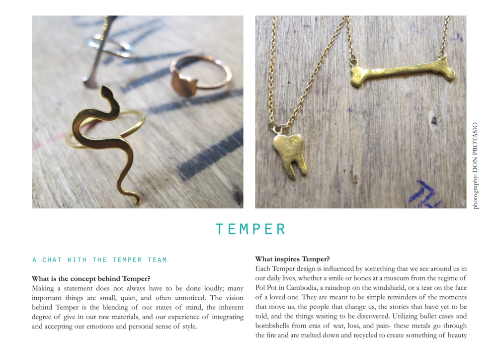 FASHION LAB MAGAZINE - A Chat With The Temper Team