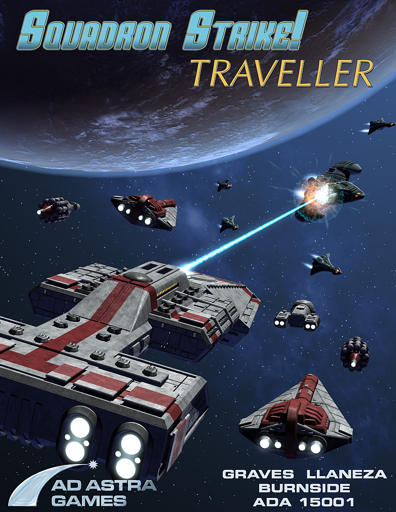 The cover for Squadron Strike: Traveller