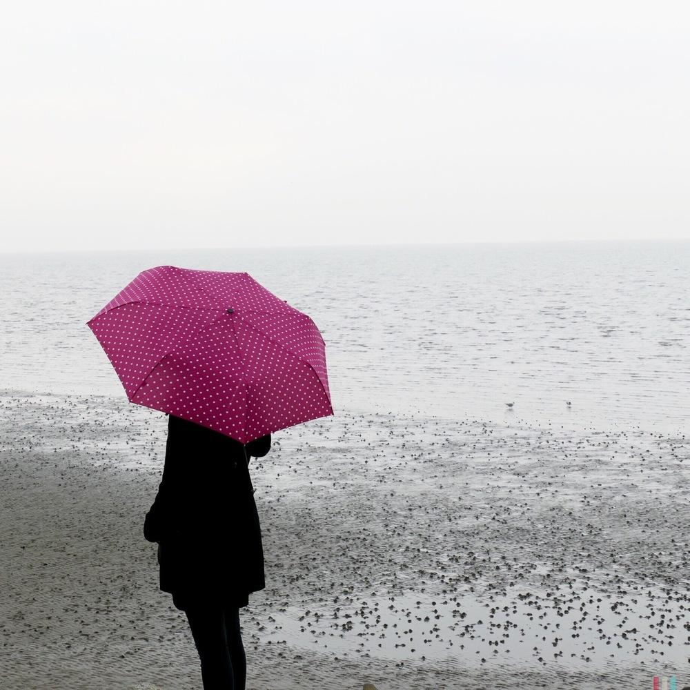 büsum, regen