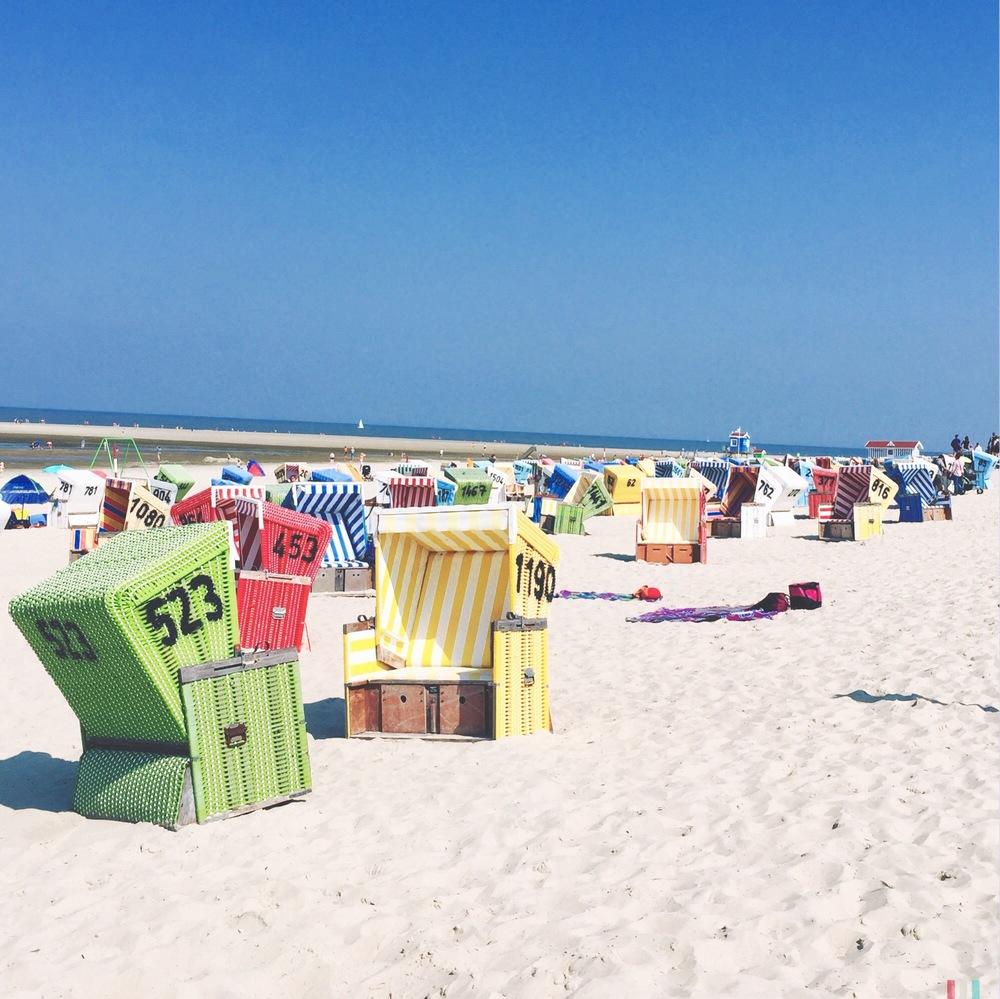 strandkörbe, langeoog