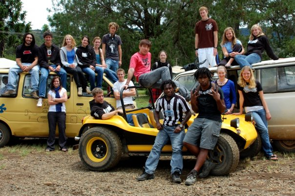 My class senior year with all of our various modes of transportation. Photo: Julia Hudson