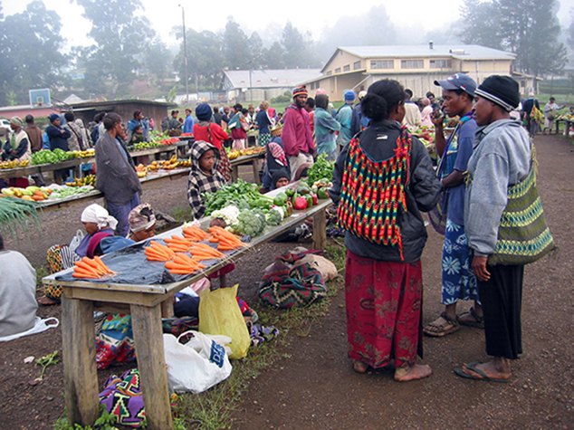 The market in Ukarumpa. Photo:   Kahunapule Michael Johnson via     Flickr