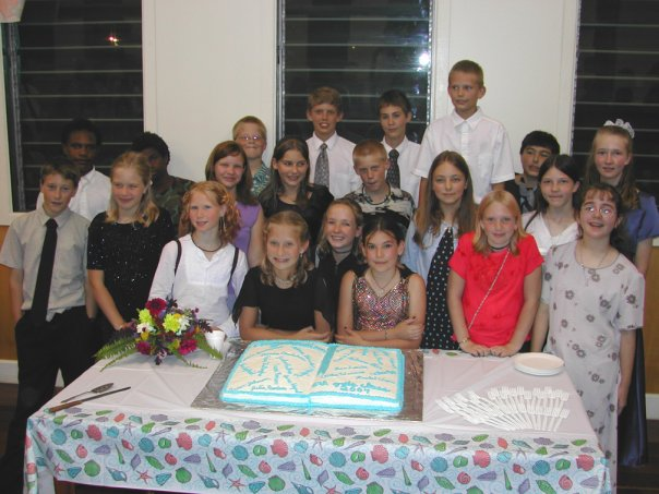 My class just casually at our sixth grade graduation. Photo: Adam Bender