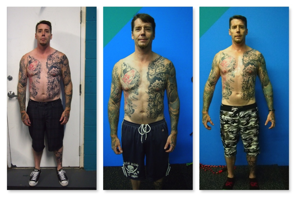"Brian - 12 weeks of discipline.  ""Elston showed me how to eat and what to eat in a way that made it simple and reasonable. My diet has stuck, and my waist line has dropped! Elston also showed me a whole new approach to work out. Before I met him I was hitting a wall with little to no gains, and rapidly losing my desire to remain fit, I was on the verge of giving up when a friend of mine referred me to Elston. I can say without any doubt or hesitation that Elston has saved my life!!!!"""