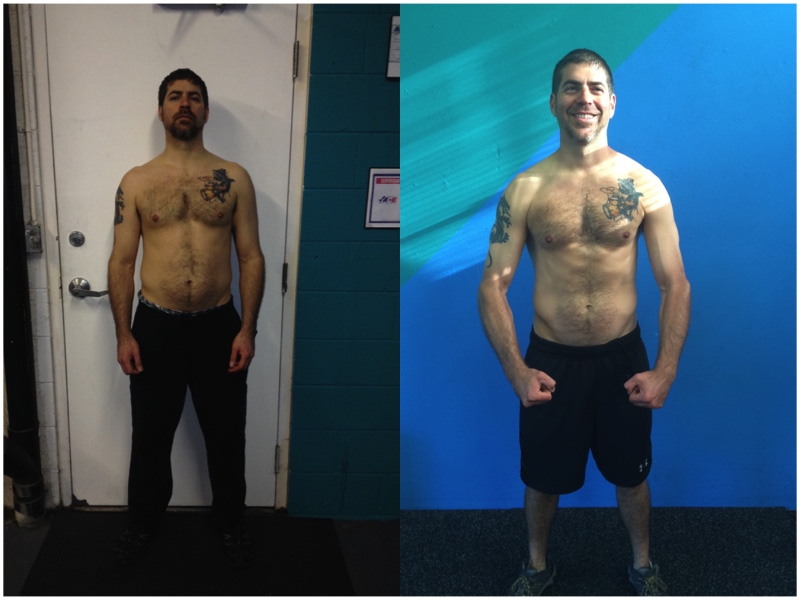 Tony started sessions with no cardiovascular endurance. He was out of breath within 15 minutes of our initial workouts. He stuck with the program and now rides his bike to sessions and stays after just to do some extra reps. Complete diet and exercise change and it shows!
