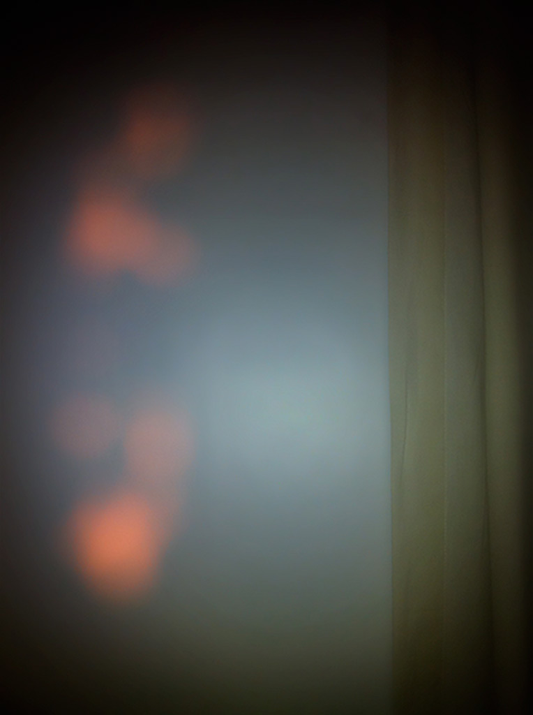 Untitled (family pictures); pink light