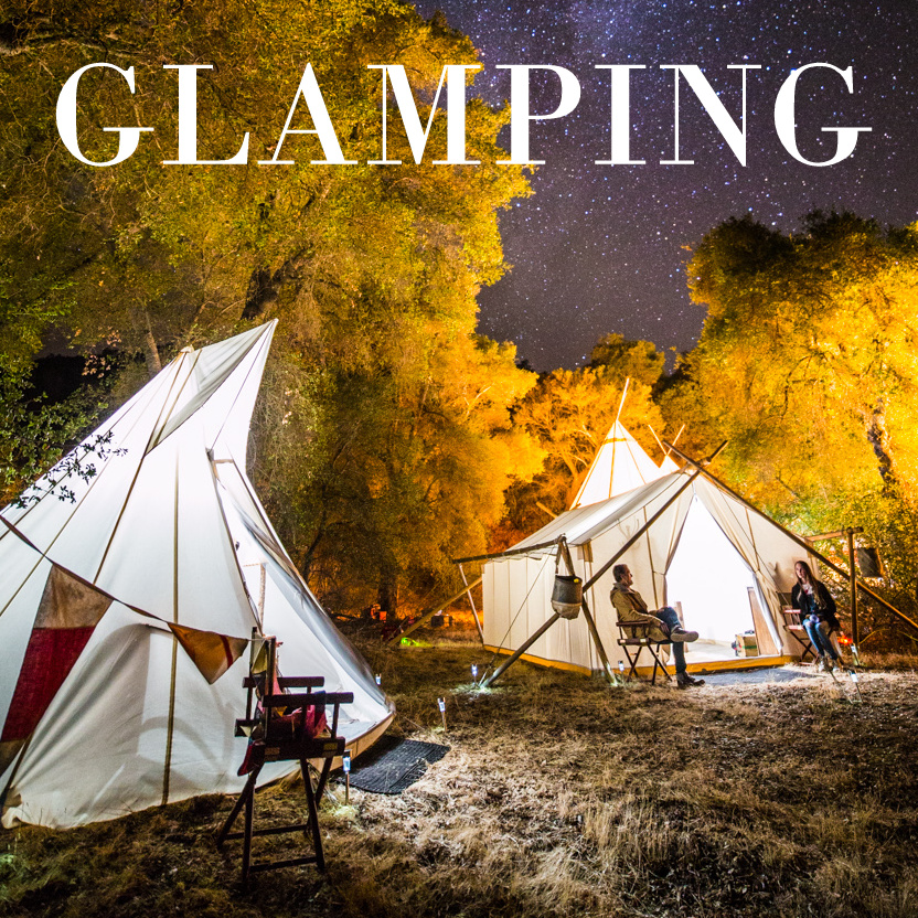 Glamping Teepee Tent Rental