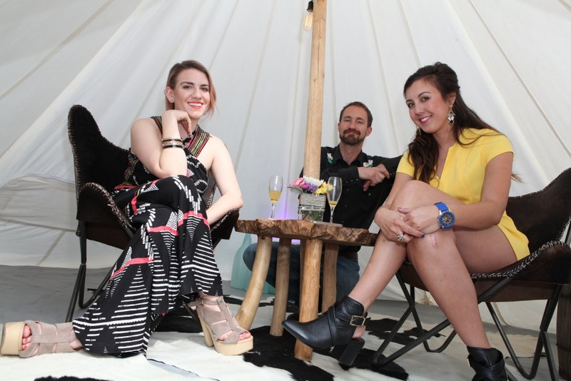 Frances Hernandez (Stylist), Kalen Higton (Under Canvas California, Manager), and Taylor Nicole (Florist)