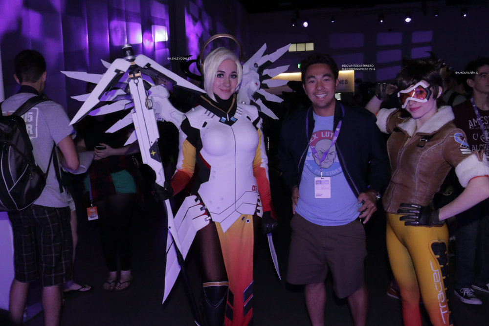 I had to get into the shot...my favorite hero to play in Overwatch...Mercy. @ashleyoshley instagram