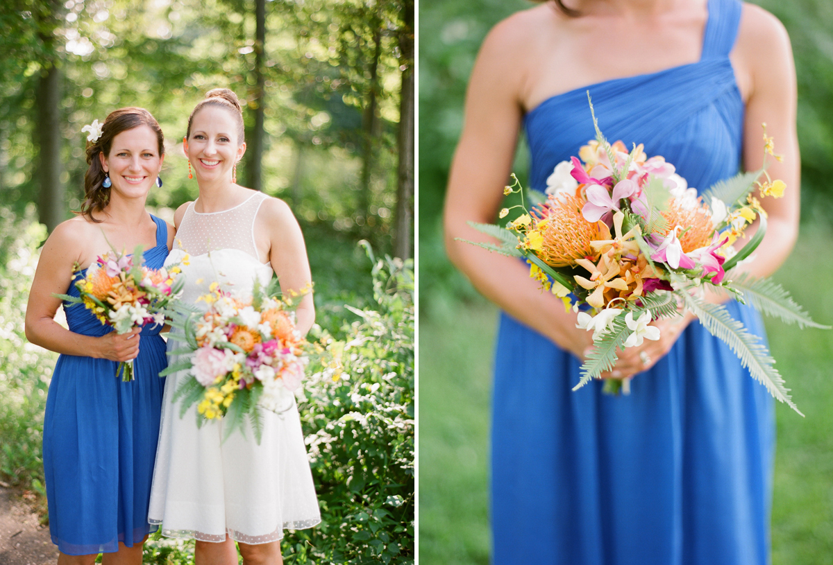 Vibrant rib mountain wedding jamie evan the for Wedding dresses wausau wi