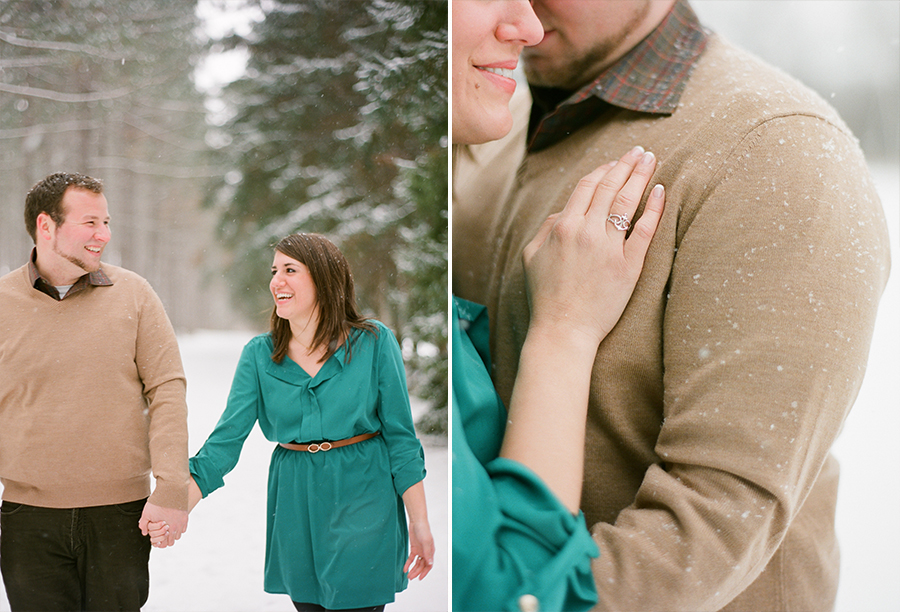"""snowy wisconsin engagement"""