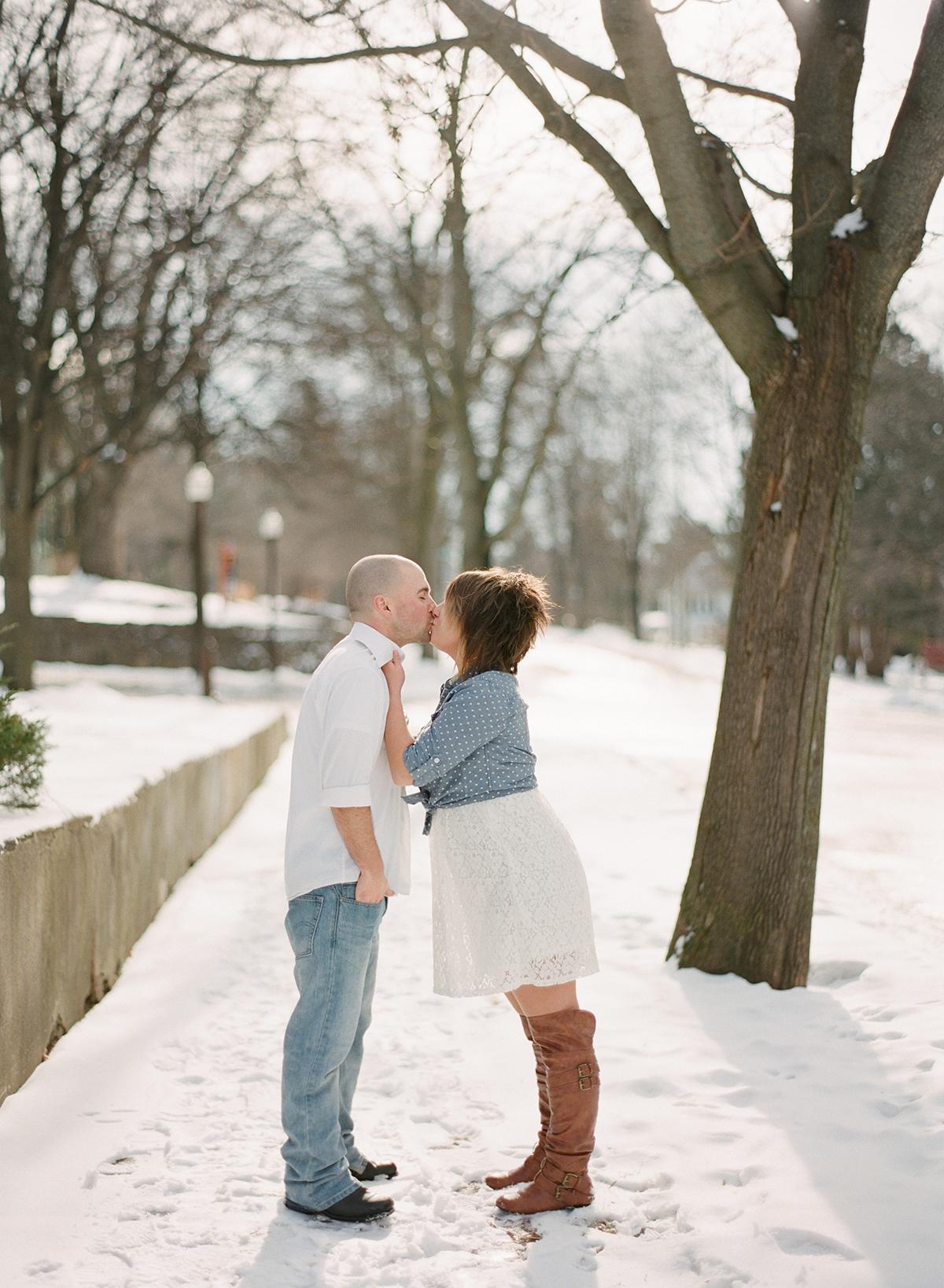 wisconsin winter engagement