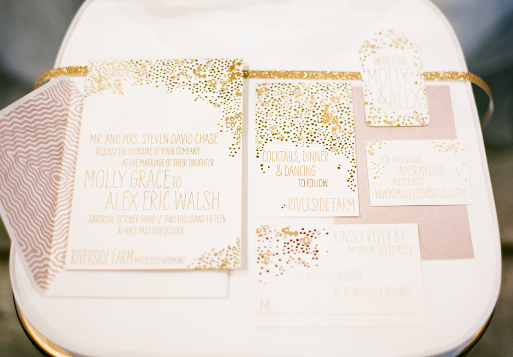 gold-letterpress-wedding-invitation