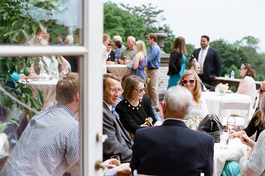 outdoor cocktail hour at villa terrace in milwaukee, wi