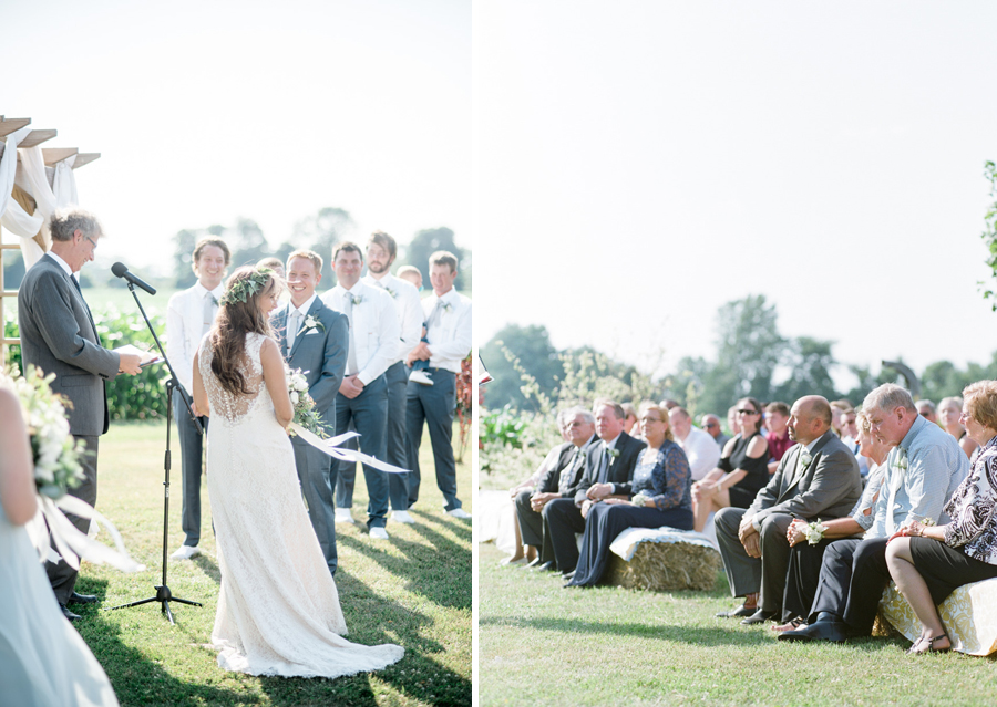 bennet barn wedding outdoor ceremony