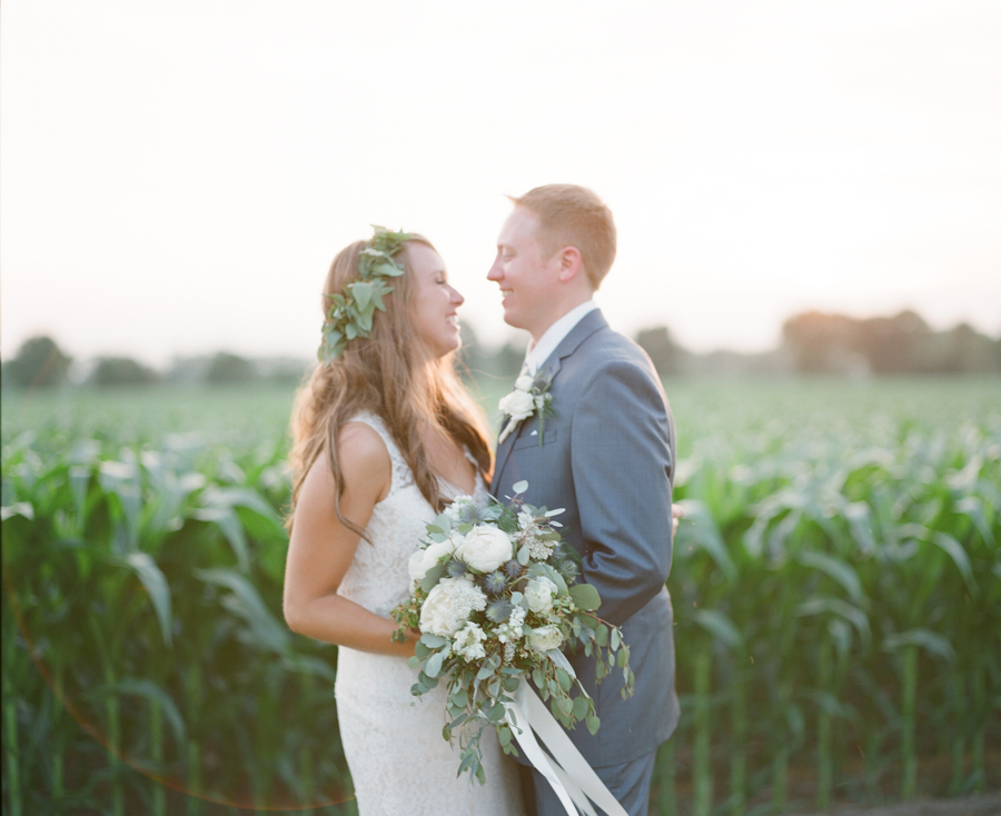 bennet barn wedding sunset portraits
