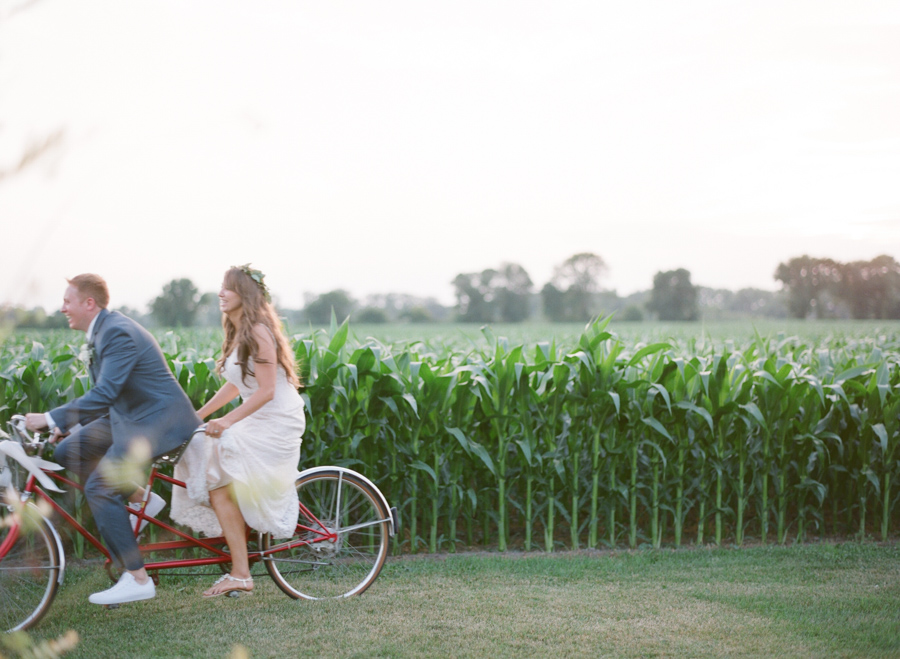 bennet barn wedding tandem bicycle portraits