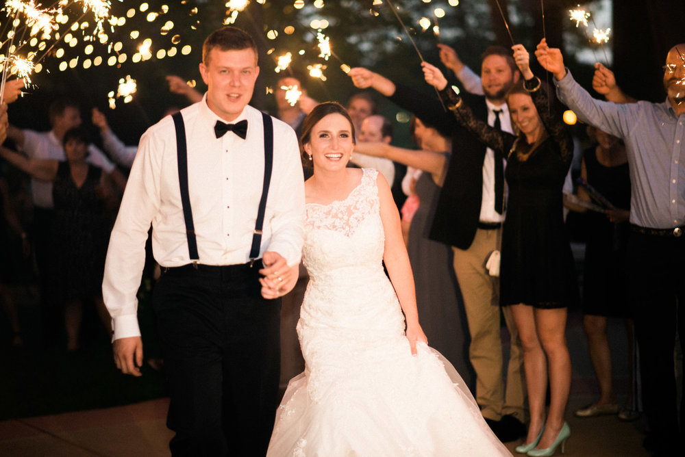 sentry world wedding sparkler exit