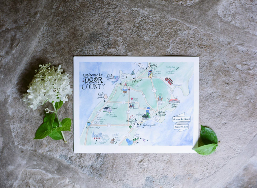 door county weddings invitation suite