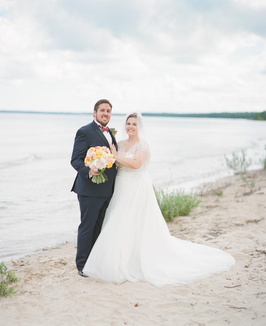 door county jacksonport beach bridal portraits