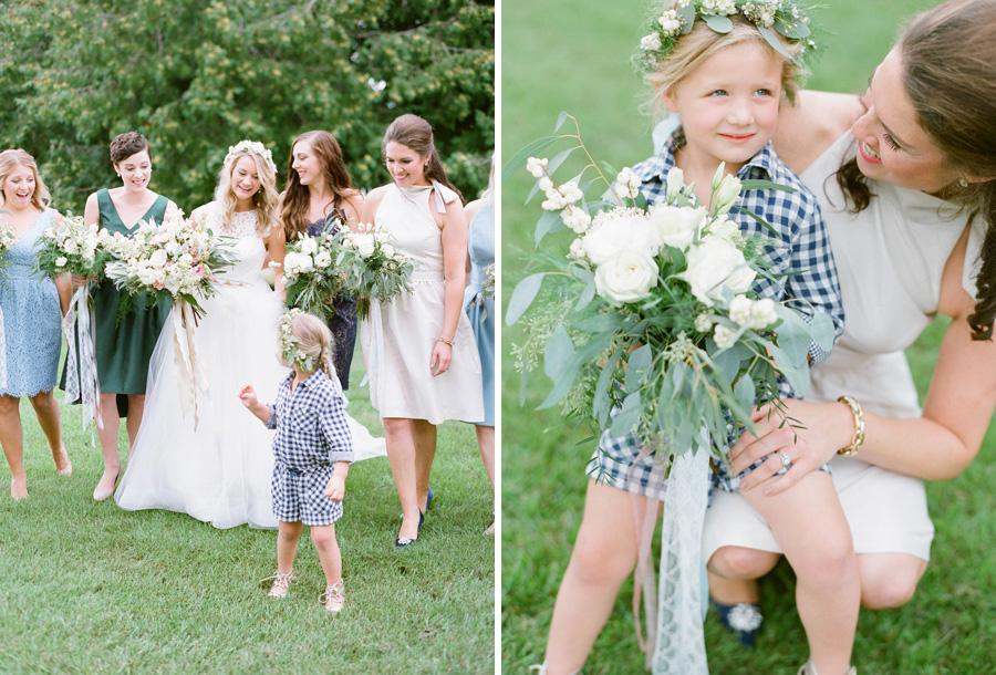 Door county weddings bridal party portraits