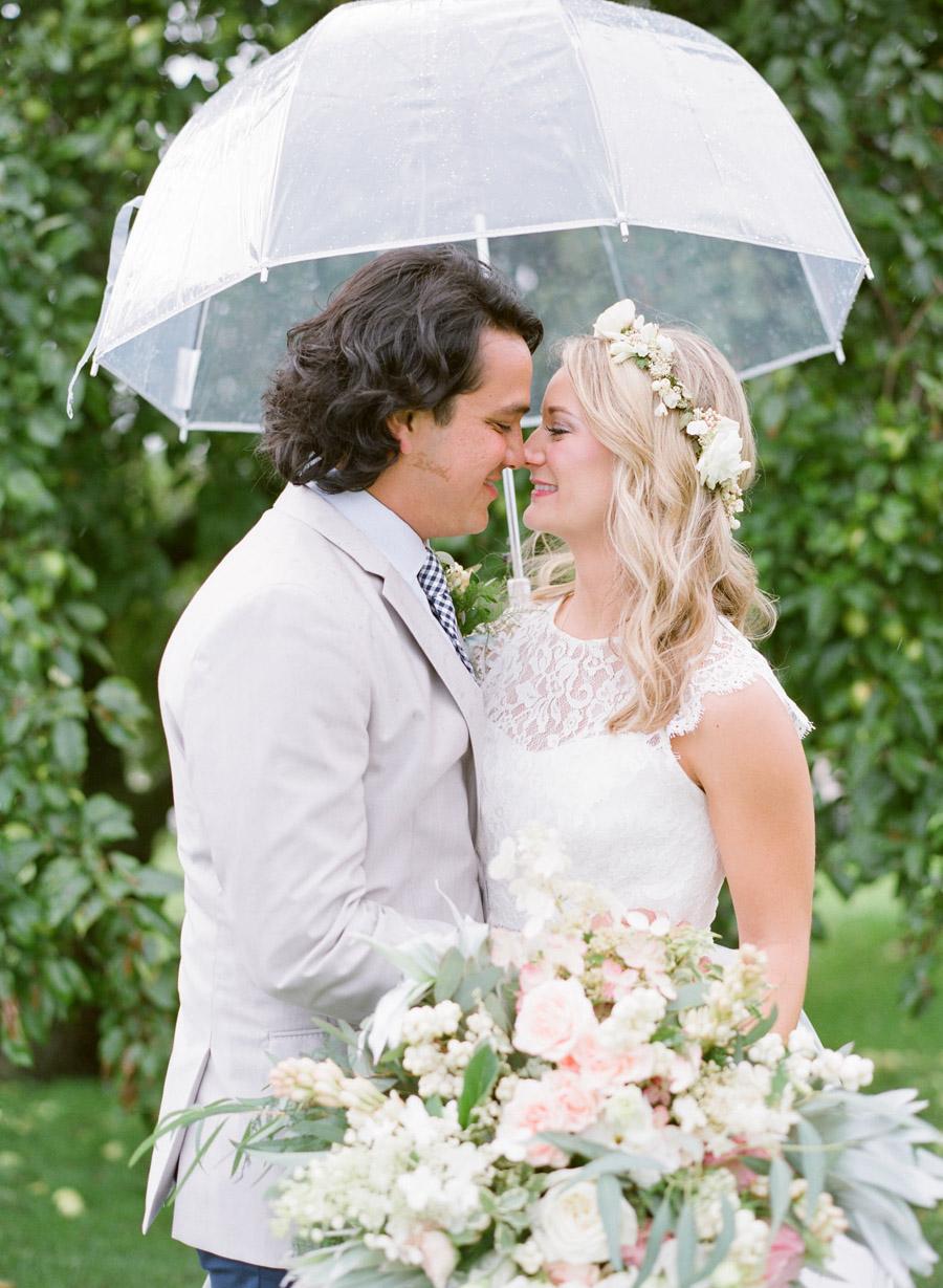 rainy door county weddings