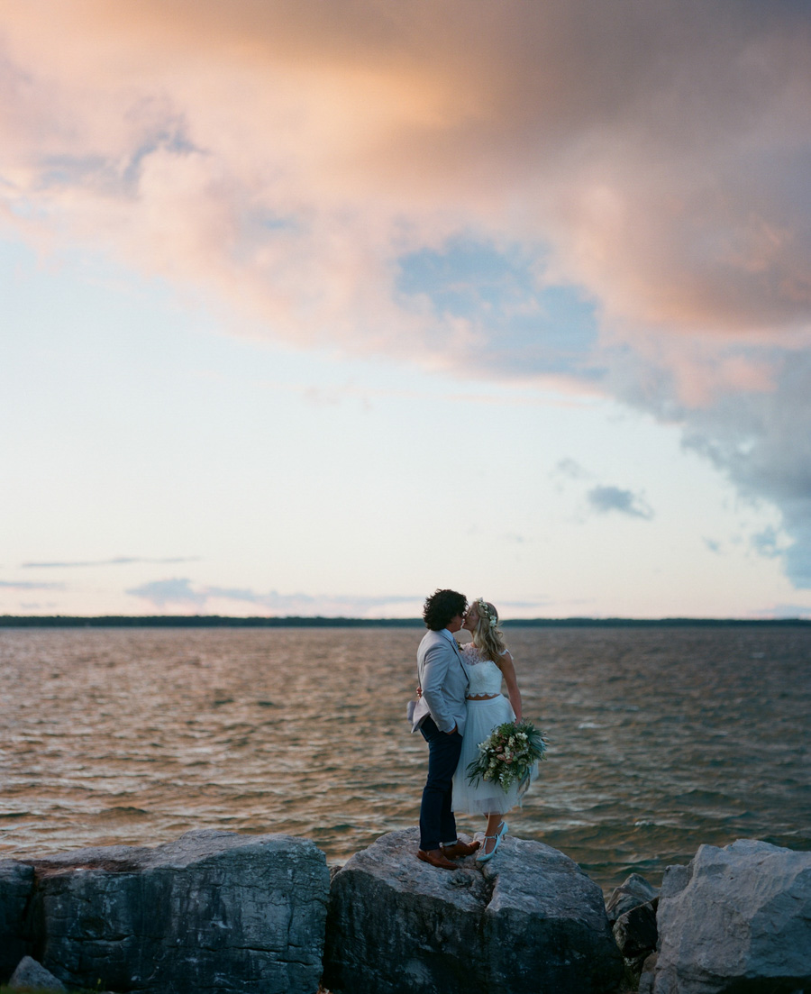 door county weddings gordon lodge sunset portraits