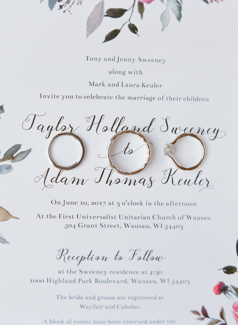 backyard wausau wedding invitation suite