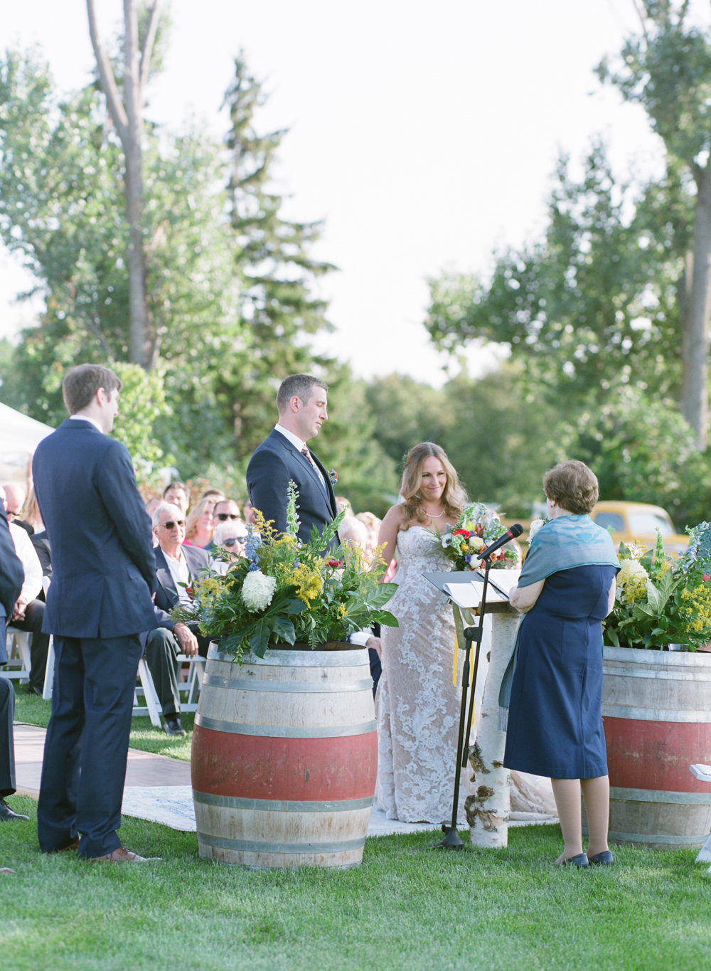 Door county weddings at Horseshoe Bay Beach Club with The McCartneys Photography