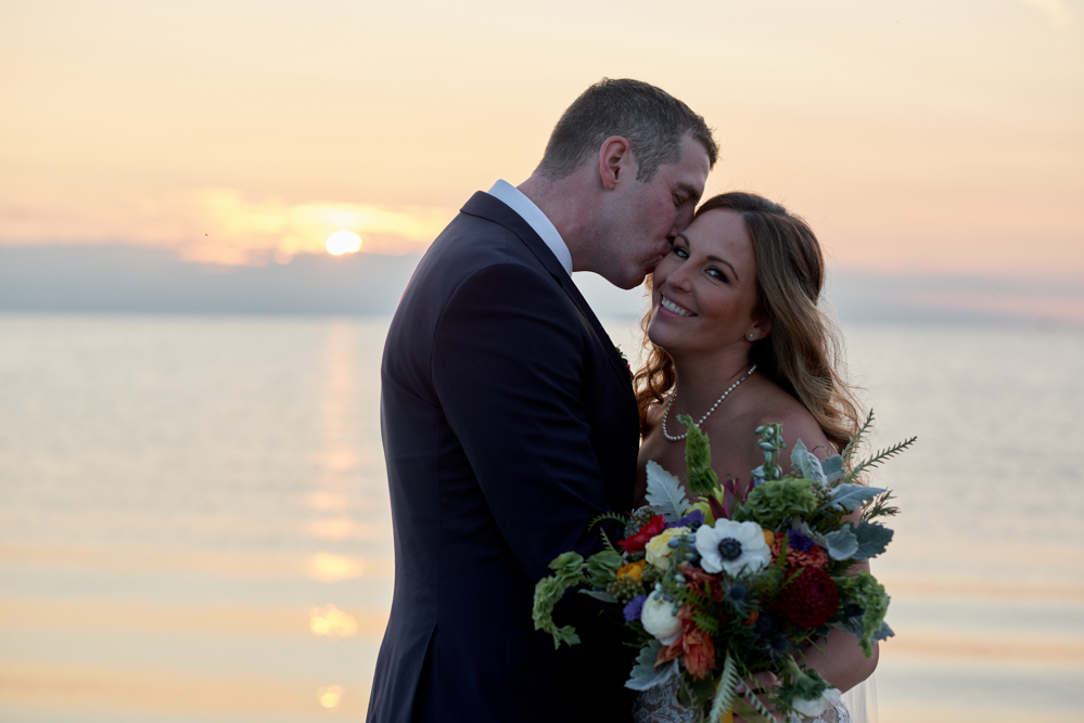 door county weddings sunset portraits