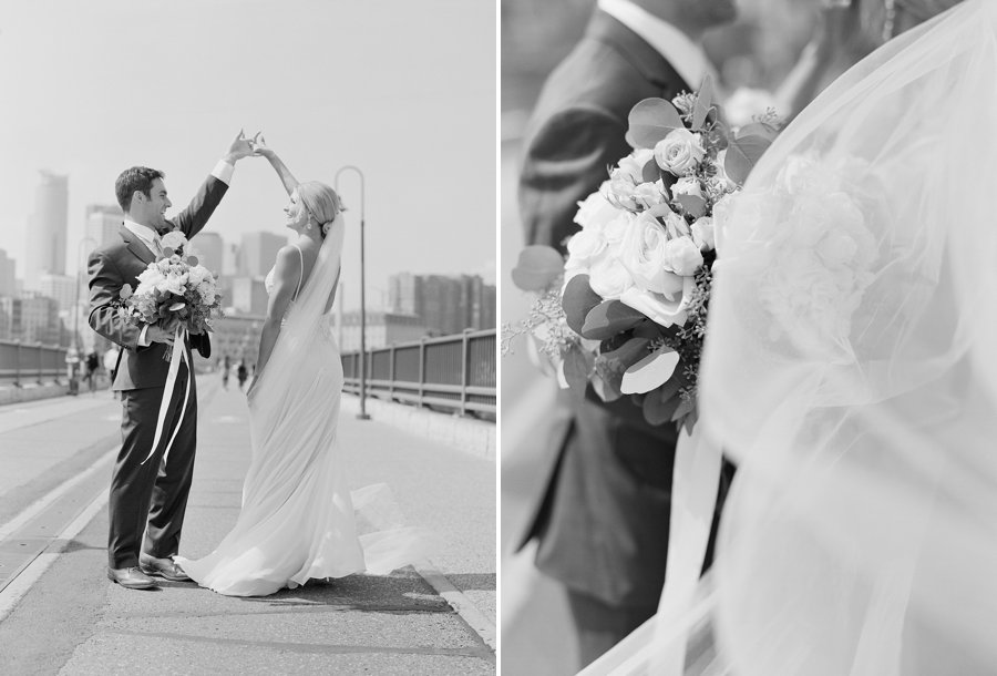 stone arch bridge minneapolis wedding portraits