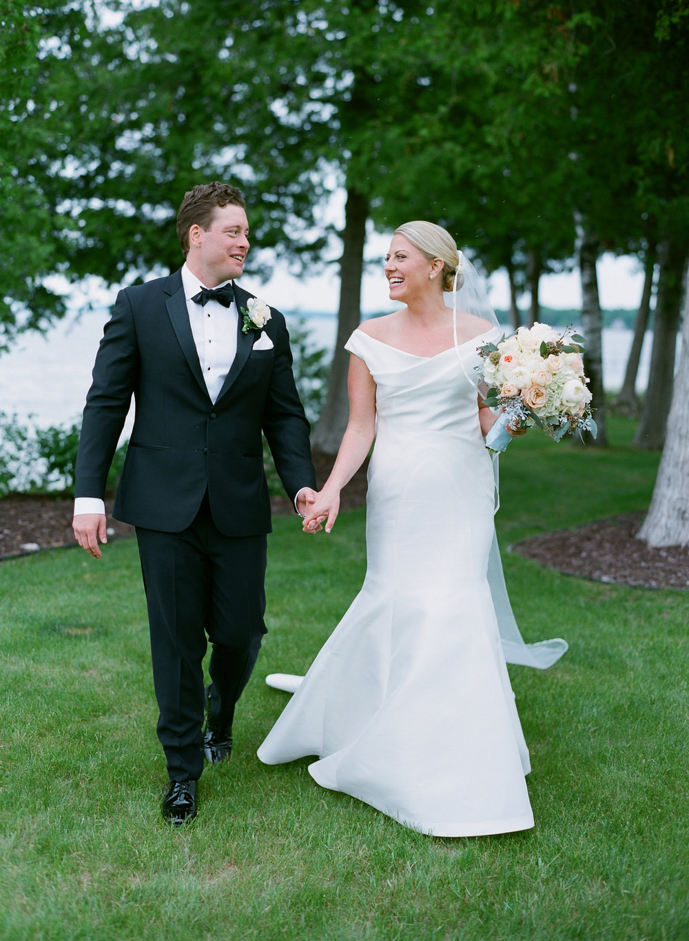 Bride and groom portraits in Egg Harbor, WI
