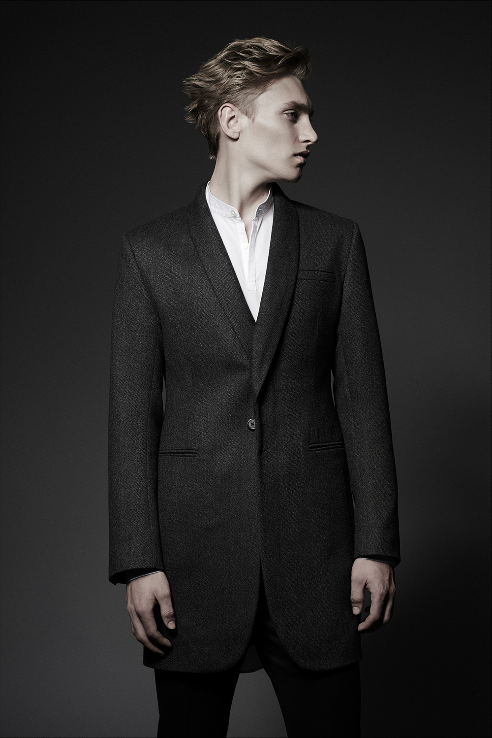 OVERCOAT  Colours: Grey  100% Wool  Made In England