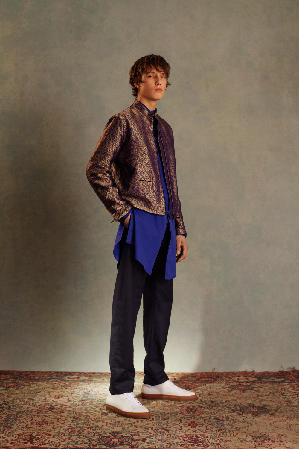 SARI BOMBER BOMBAY SHIRT LONG JODHPUR TROUSERS