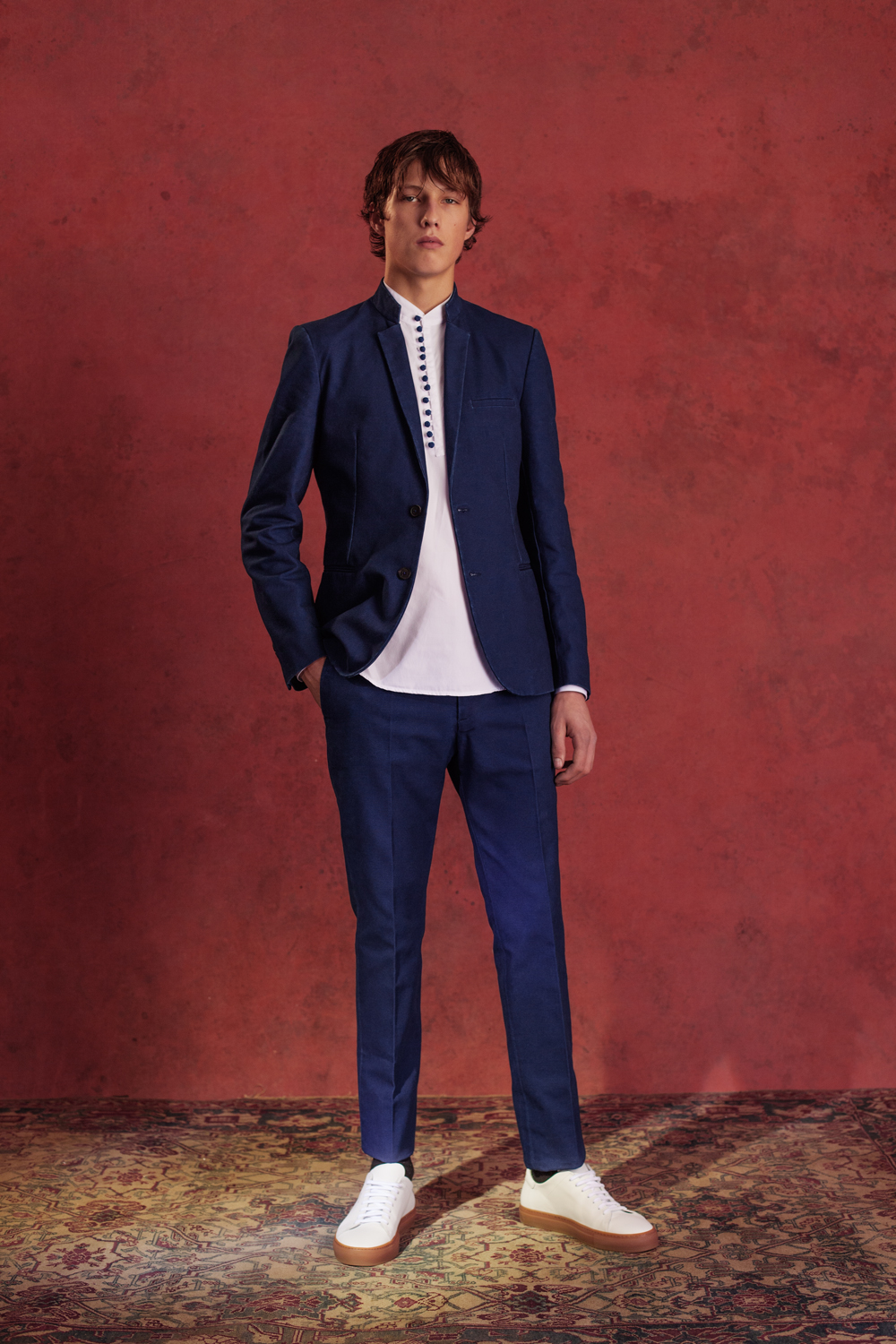 CONTEMPORARY SUIT DENIM NEPAL SHIRT