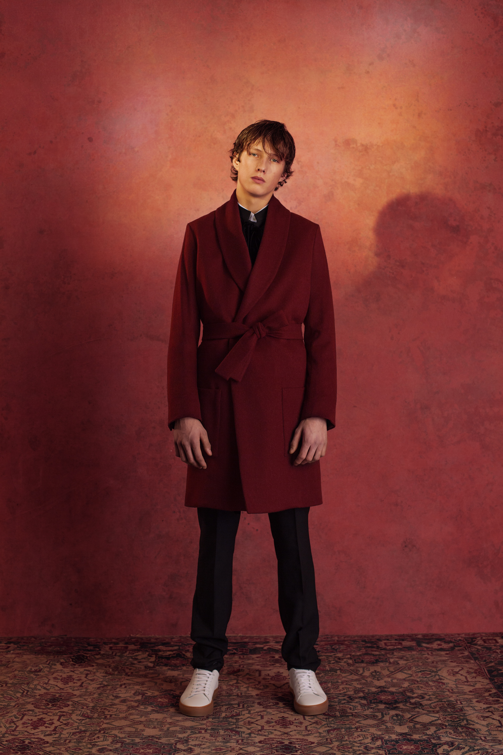 ROBE COAT WOOL BOMBAY SUIT  CLASSIC SHIRT