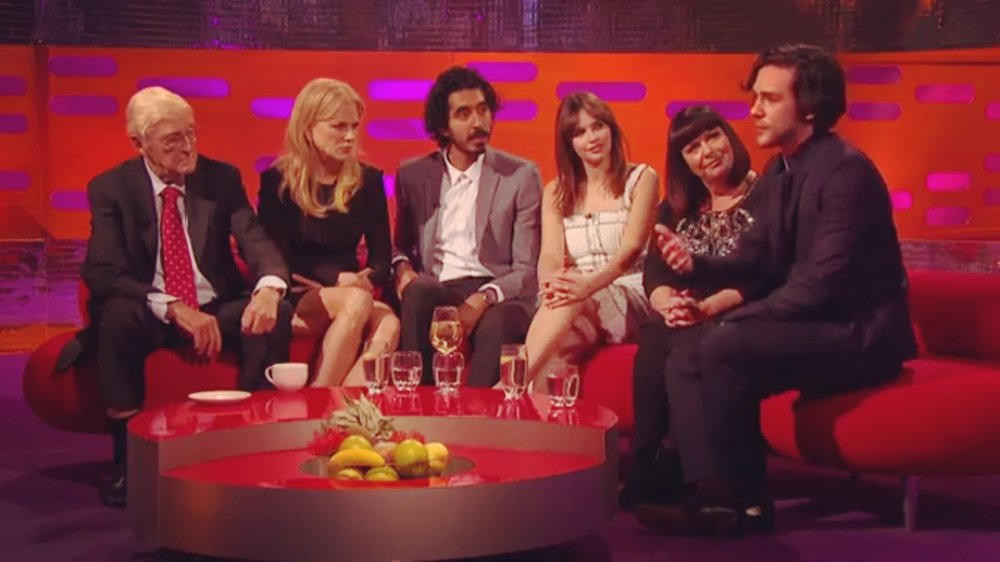 JACK SAVORETTI IN ADVANI LIVE ON GRAHAM NORTON WITH NICOLE KIDMAN AND DEV PATEL LONDON 2017