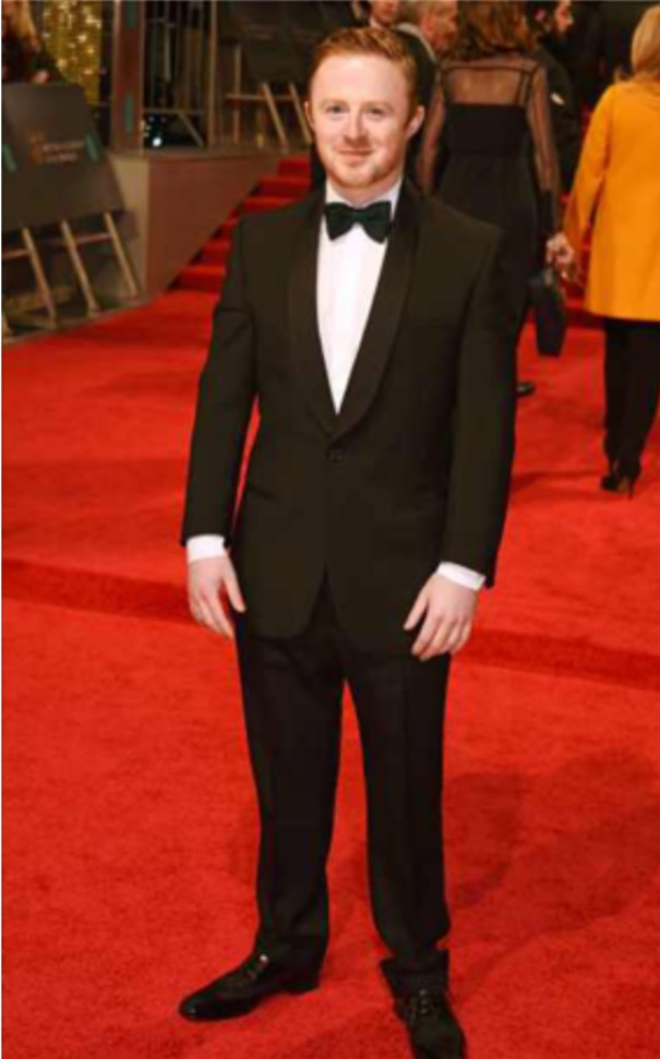 BAFTA NOMINEE CONOR MACNEILL SHAWL TUXEDO BLACK EE BAFTAS FEB 2017