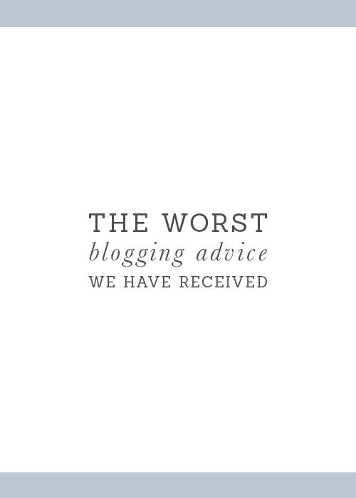 worst blogging advice