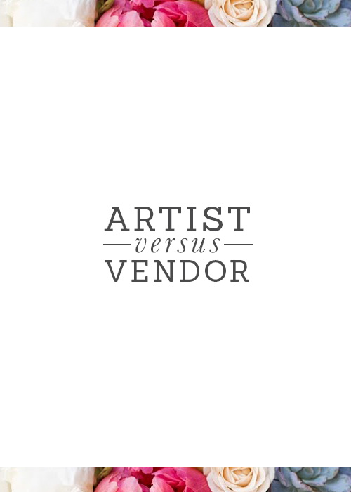 artist+or+wedding+vendor