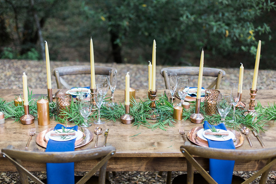 navy wedding table