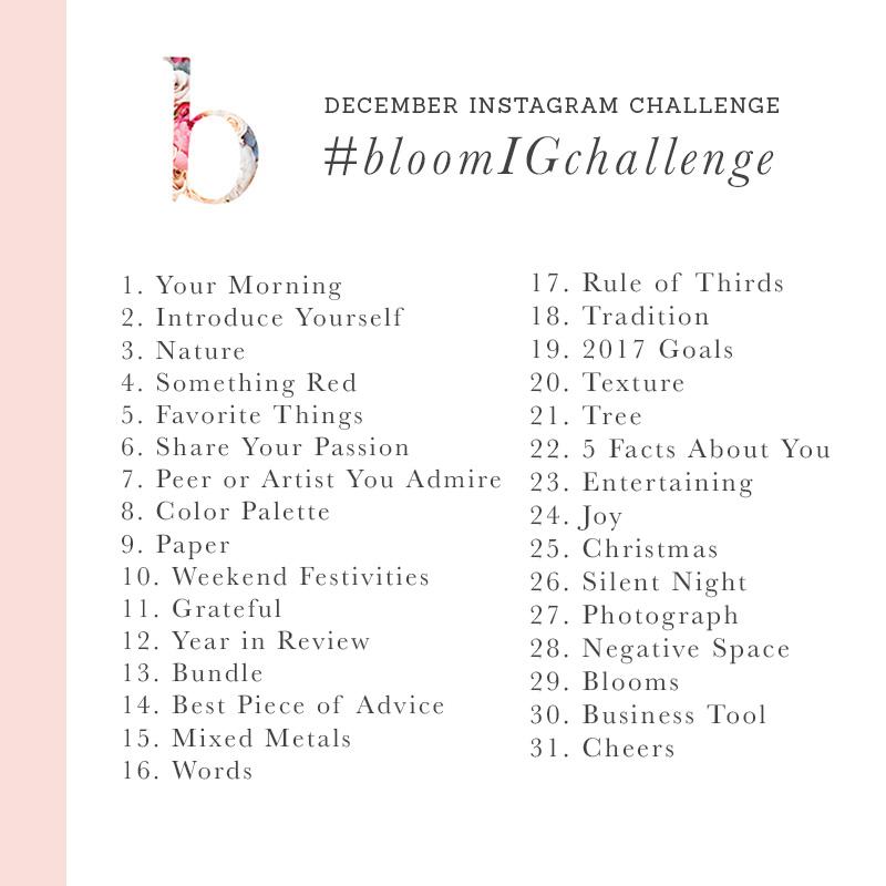 december instagram challenge