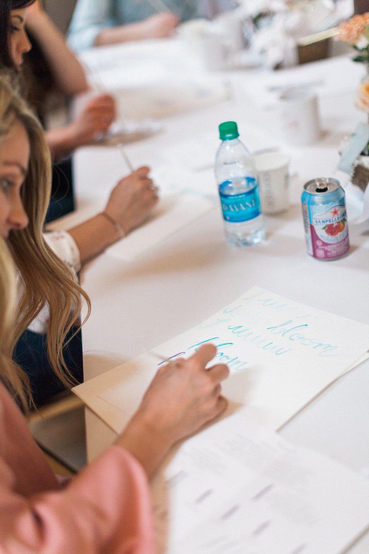 watercolor calligraphy workshop