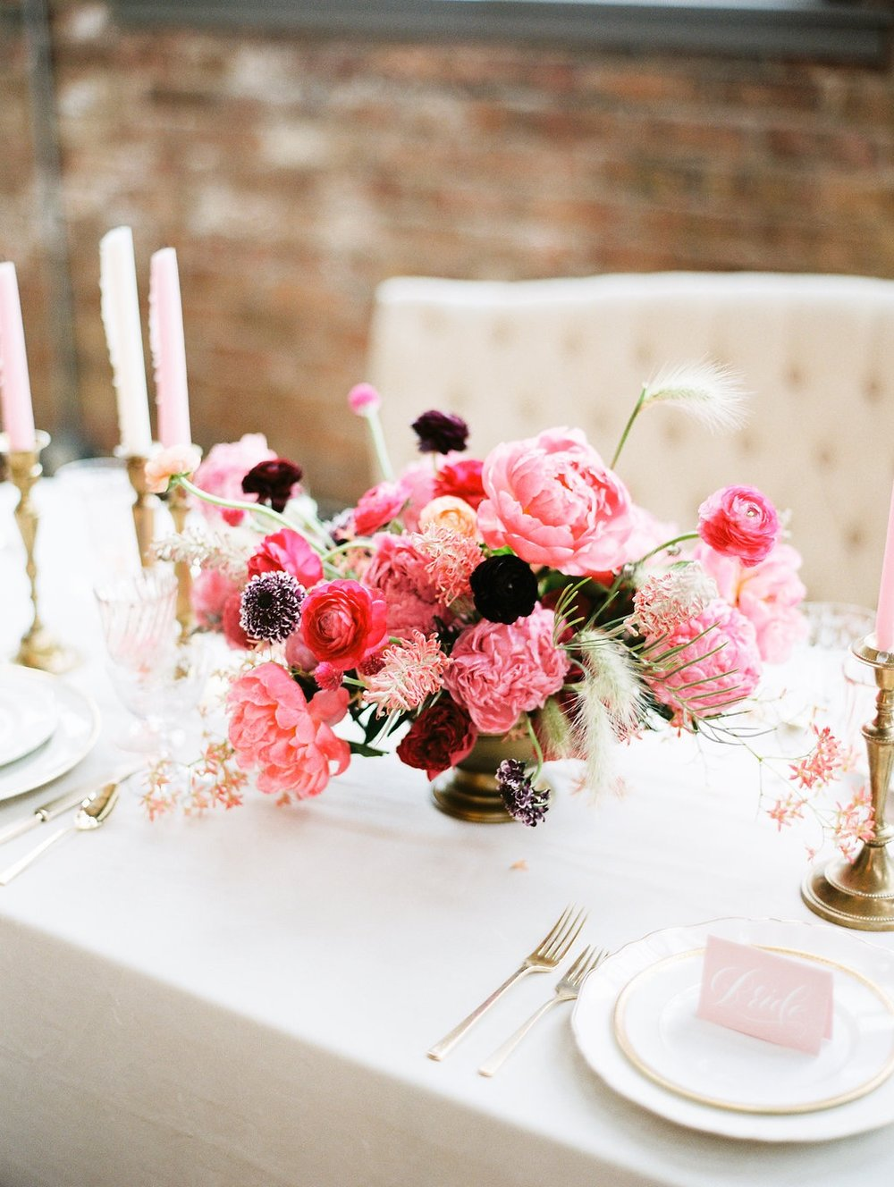pink peony centerpiece bloom workshop