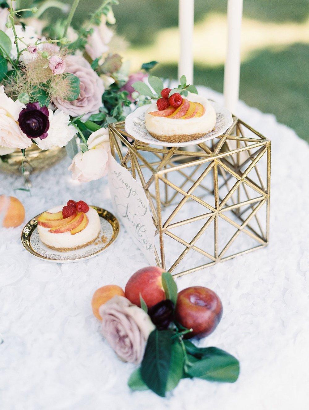 small wedding dessert