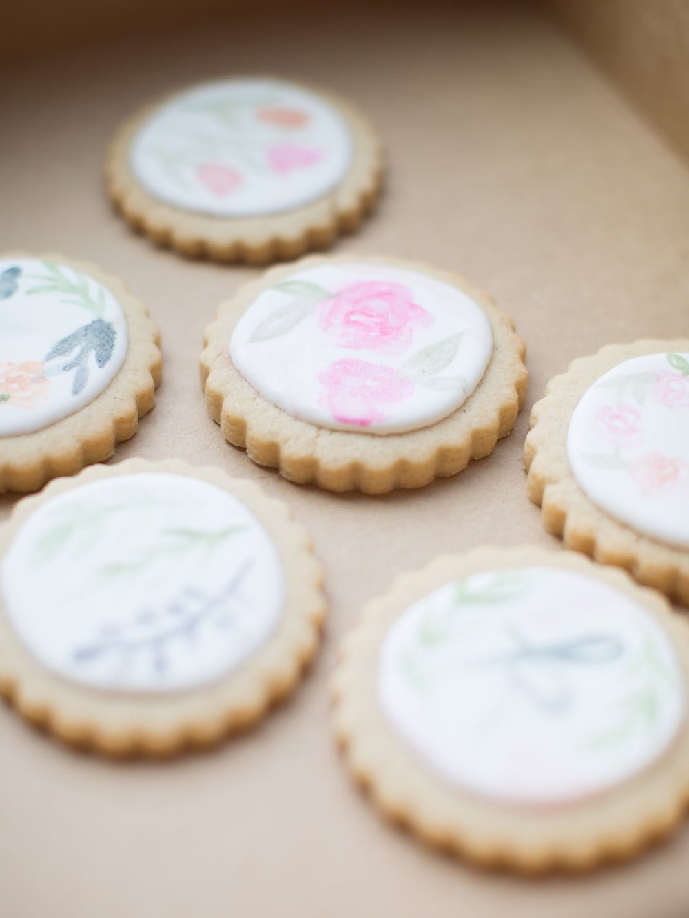 la petite bloom painted cookies