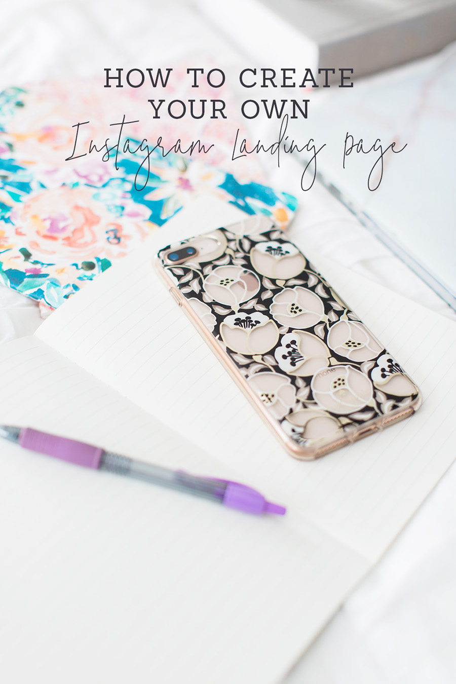 how to create instagram landing page